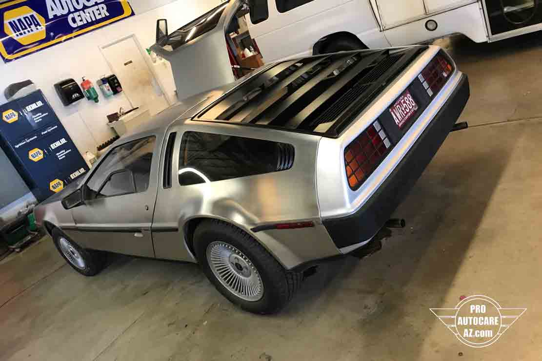 delorean paintjob